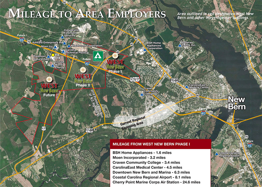 west new bern commerce map