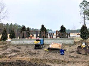 West-New-Bern-Entry-Lettering-Install-Jan2021