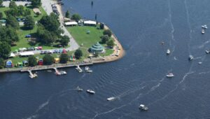 Spectators enjoyed The Great Trent River Raft Race from land and water.